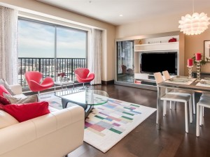 Living Room View of Unit Sold at Residences at Four Seasons Denver