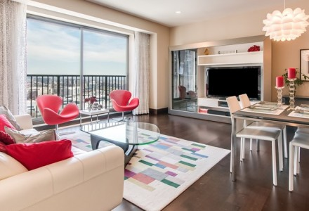 Living Room View of Unit Sold at Four Seasons Luxury Private Residences Denver