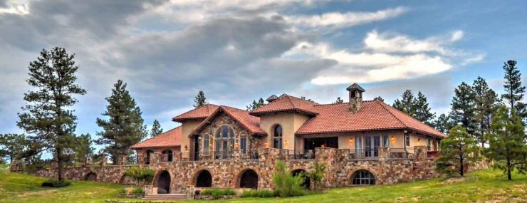 Colorado Golf Club Luxury Home For Sale HDR Drone Photo