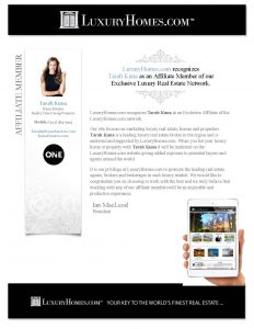 Luxury Home Affiliate Member Realtor