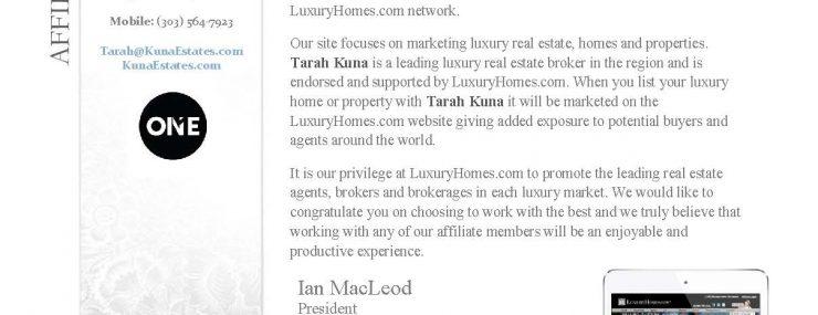 Luxury Home Affiliate Member Realtor