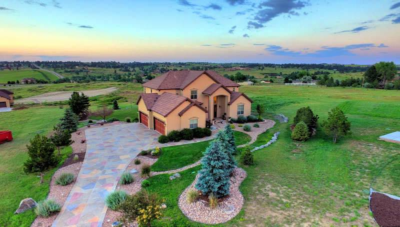 Luxury Home Drone Aerial Parker CO
