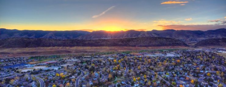 Littleton, CO View of The Rocky Mountain Front Range