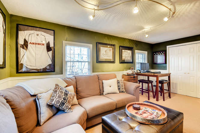 Man Caves Englewood Co : South clarkson street small lower level family