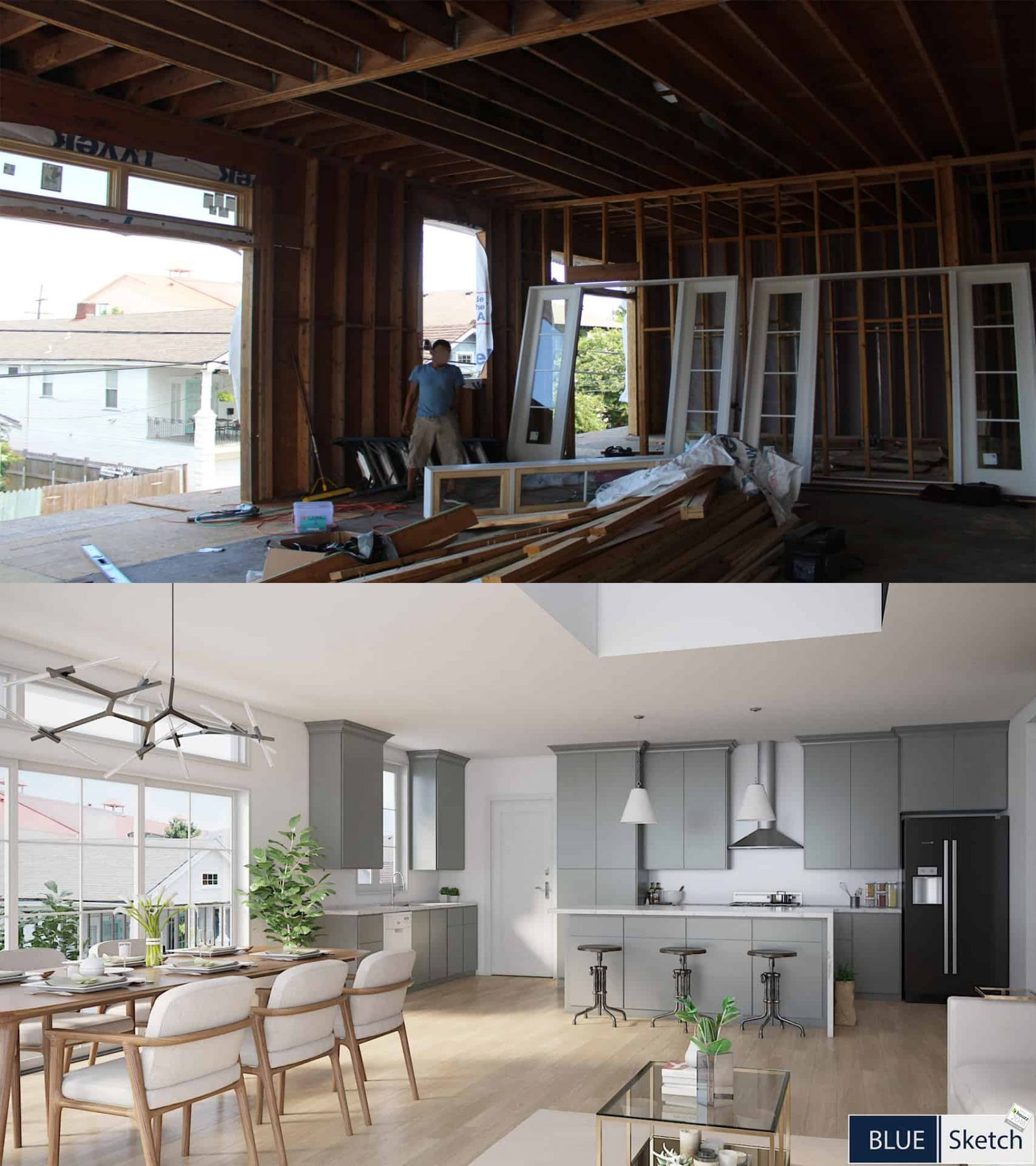 Virtual Staging and Renderings for Listing
